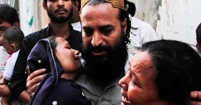 Family members of the victims expressing grief over the news of death of their relatives. -File Photo