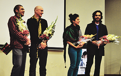 Members of Seedlings production at the LUMS 7th Annual Film Festival Filums. — Photo by Author