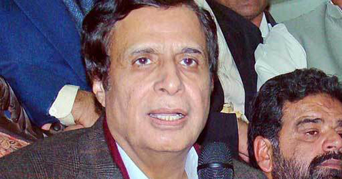 PML-Q DeputyPrime Minister Chaudhry Pervez Elahi at the Talagang Government Degree College. -File Photo