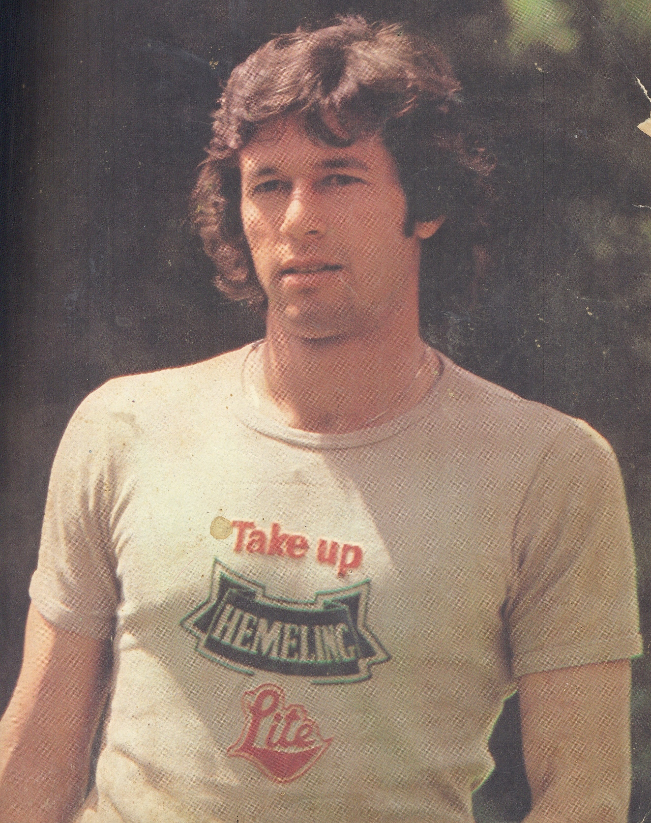 Imran Khan endorsing the once famous Australian lager, Hemeling, in Jamaica.