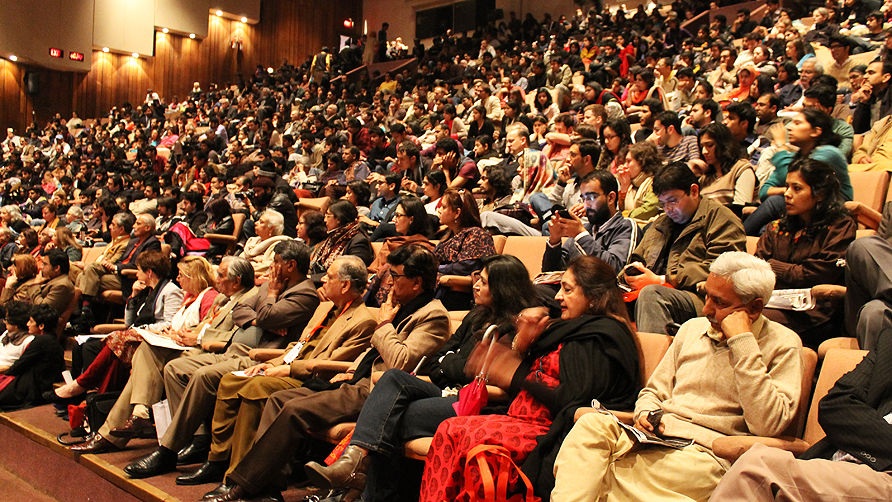 The room for 'Pakistan a Modern Country?' was packed. - Photo by Tabinda Siddiqi/Dawn.com