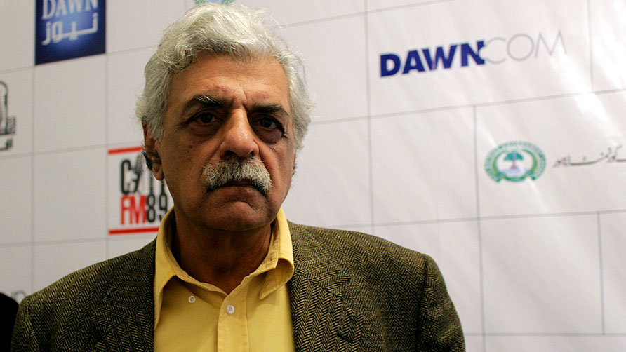 The Keynote Speech was given by Tariq Ali. - Photo by Sara Faruqi/Dawn.com