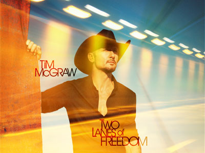 This CD cover image released by Big Machine Records shows 'Two Lanes of Freedom' by Tim McGraw. —Photo by AP