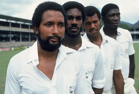 Andy Roberts, Michael Holding, Colin Croft and Joel Garner.