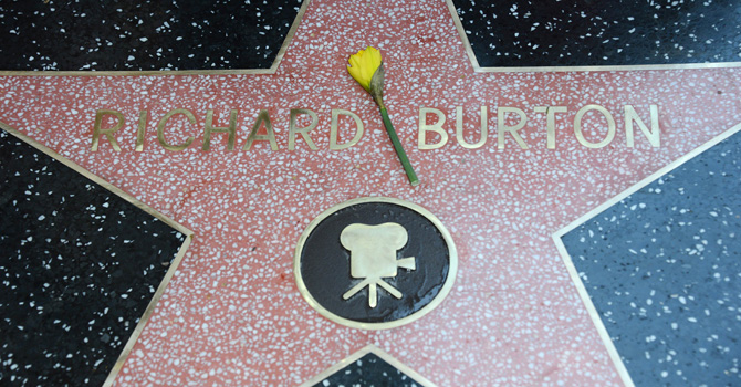 The late Richard Burton is honored with a star on the Hollywood Walk of Fame on March 1, 2013 in Hollywood, California. The star is located beside that of co-star Elizabeth Taylor. -AFP Photo