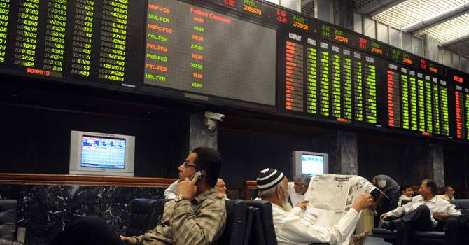 Falling share prices for OGDC and MCB pushed the index below 18,000 points, said Samar Iqbal, of Topline Securities. - File photo