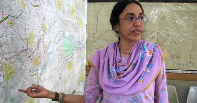 Social Worker Parveen Rehman who was gunned down in her office on 13th February, 2013.