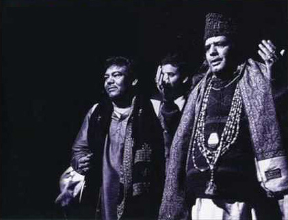 The Sabri Brothers at a concert in Lahore in 1976.