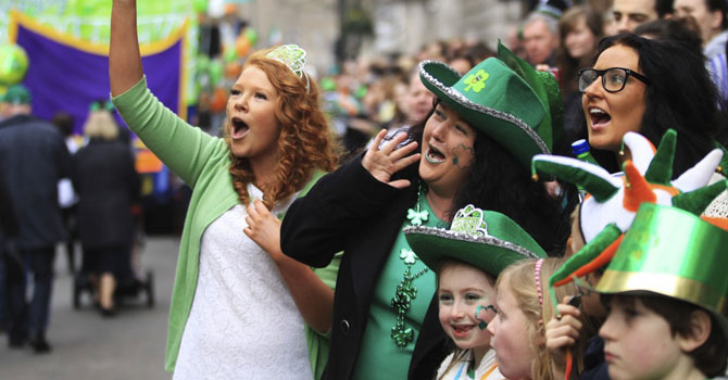 Spectators gathered for the St Patrick's Day parade in Trafalgar Square, central London, in 2012. —Photo (File) Reuters