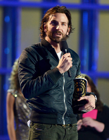 Actor Bradley Cooper accepts the award for best male performance for