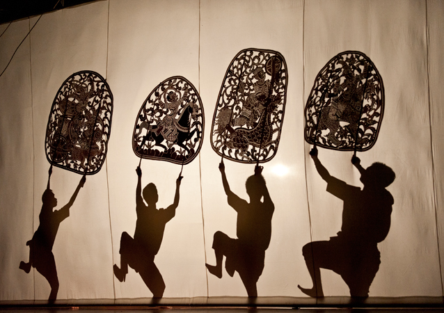 This undated image released by The O & M Company shows Wat Bo Shadow Puppets which will be a free outdoor event presented at Brookfield Place Winter Garden, April 26-28.