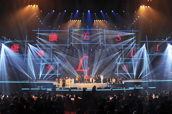 Hong Kong canto-pop singers take part in a concert in memory of the late Hong Kong canto-pop singer and movie idol Leslie Cheung.