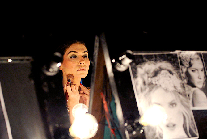 Model: Amna Babar.  — Reuters Photo