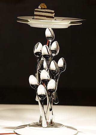 A table lamp designed by German designer Ingo Mauer is displayed at Milan's Design Fair, in Milan, Italy.