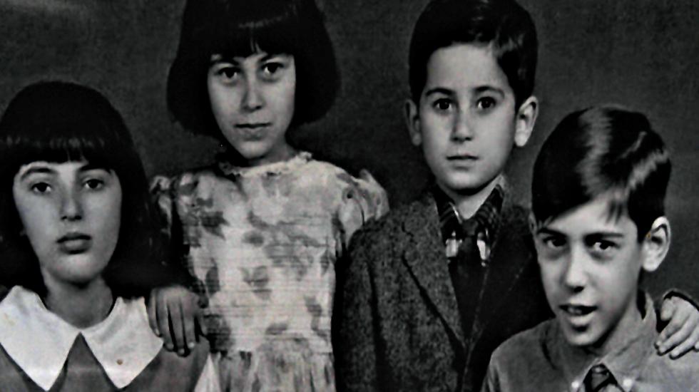 Benazir Bhutto, Sanam Bhutto, Shahnawaz Bhutto and Murtaza Bhutto.