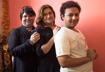 Transgender activists Riffee Khan, Saima Farhan and Zehrish (L to R). — Photo by Sara Faruqi