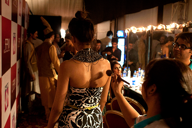 Fashion Pakistan Week back stage