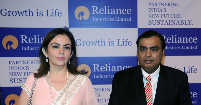 The Indian government is to provide the country's richest man Mukesh Ambani, head of energy giant Reliance Industries, with full-time security from armed commandos, media reports said April 22, 2013.—Photo by AFP
