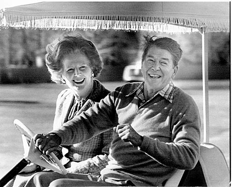 UK's Margaret Thatcher and US' Ronald Regan were the main political architects of the reassertion of Western middle-class conservatism in the 1980s in which a staunch capitalist structure was built on the ashes of the Welfare State. Social moralism too was used as an electoral appeal and tool to achieve this in what were/are largely secular states.