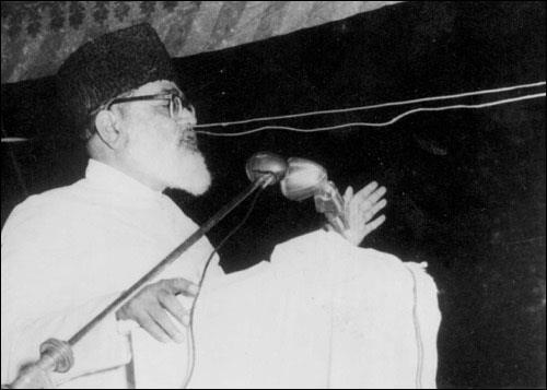 Abul Ala Maududi delivering a speech in 1955.