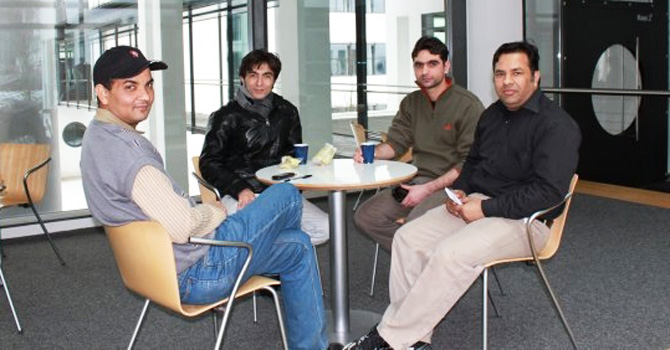 The author with his Pakistani friends in Bonn.