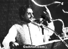 Altaf Hussain addressing an election rally in Karachi, 1988.