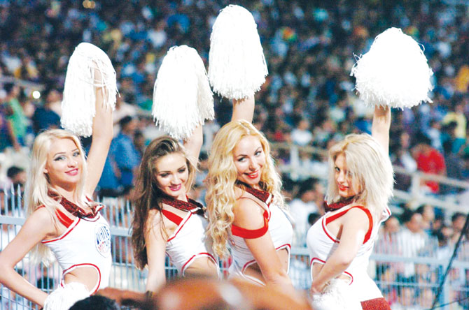 The Delhi Daredevils cheerleaders during the IPL.