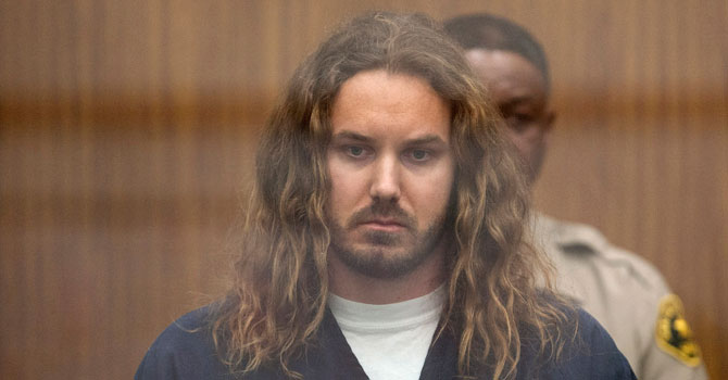 Tim Lambesis, 32, front man for the Christian-inspired heavy metal group As I Lay Dying, appears in Vista Superior Court in Vista, Calif. on Thursday. —AP Photo
