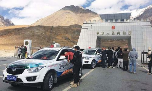 Car rally highlighting CPEC arrives in Gilgit