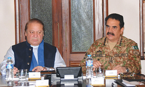 PM, army chief attend high-level security meeting in Quetta after police college carnage