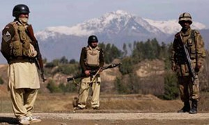 4 suicide bombers, 2 soldiers killed in attack on FC camp in Mohmand