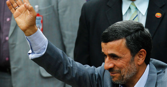 Iranian President Mahmoud Ahmadinejad. — Photo by Reuters