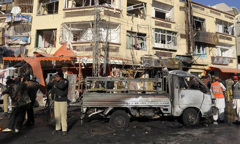 Attacks in Quetta, Karachi, Peshawar and DI Khan since Tuesday night have killed 11 people, and injured over 70. —File Photo