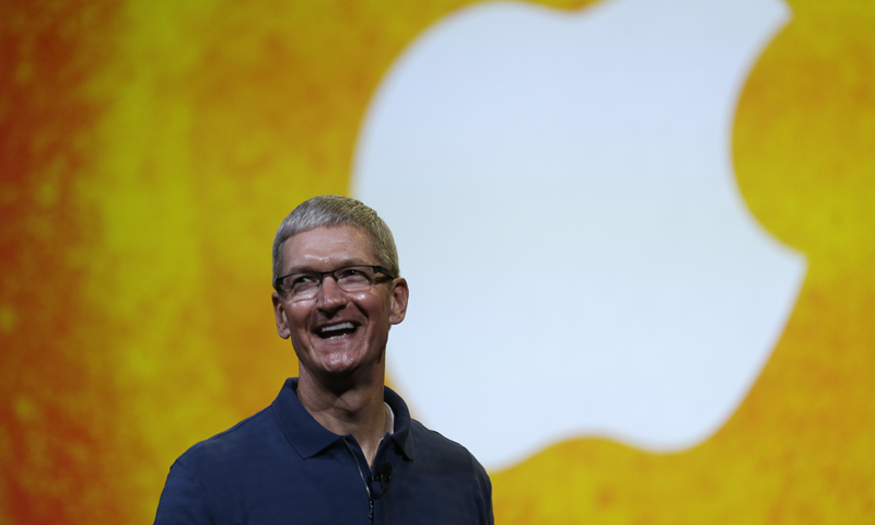 In this Tuesday, Oct. 23, 2012, photo Apple CEO Tim Cook speaks during an event in San Jose, California. — AP File Photo