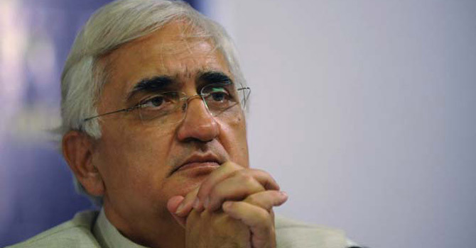 Indian Foreign Minister Salman Khurshid.—AFP Photo
