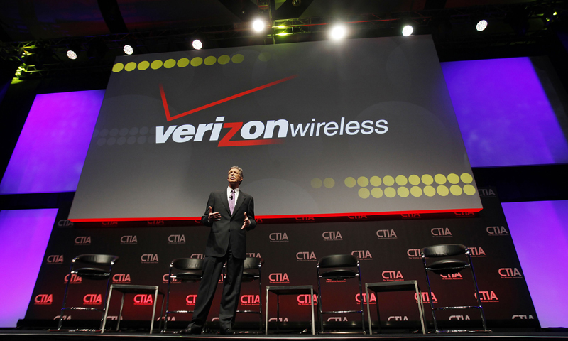 Dan Mead, President & CEO of Verizon Wireless addresses attendees during the International CTIA WIRELESS Conference & Exposition in New Orleans, Louisiana in this May 8, 2012 photo. — Reuters (File Photo)