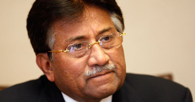 Former military ruler Pervez Musharraf speaks at a news conference. — Photo by AP/File