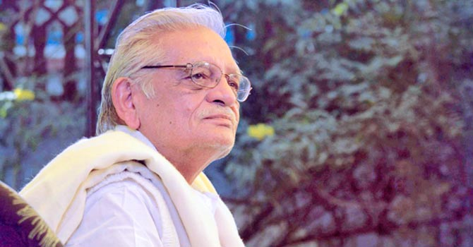 Indian poet, lyricist and director, Gulzar. —Photo (File) AP