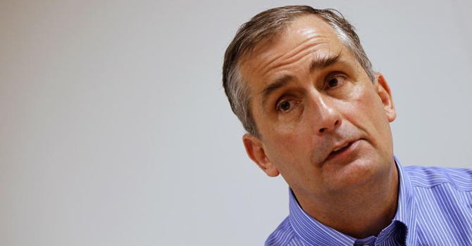 Intel Chief Operating Officer Brian Krzanich is seen during an interview with Reuters at Intel headquarters in Santa Clara, California March 13, 2012. — Reuters Photo