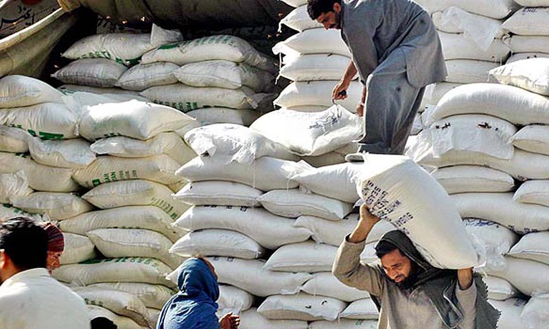 Labourer loads flour bags from a warehouse – File photo by APP