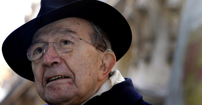 Giulio Andreotti, seven times Italian prime minister and one of the country's most prominent post-war figures, has died at the age of 94, on May 6, 2013.—Photo by Reuters