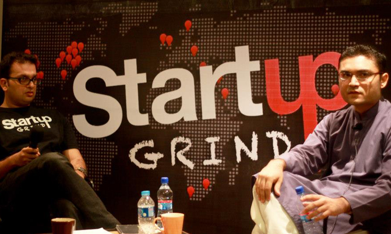 Fawaad Saleem and Farzal Ali Dojki at the Startup Grind Launch at T2F in Karachi on 3rd May 2013. - Courtesy Photo