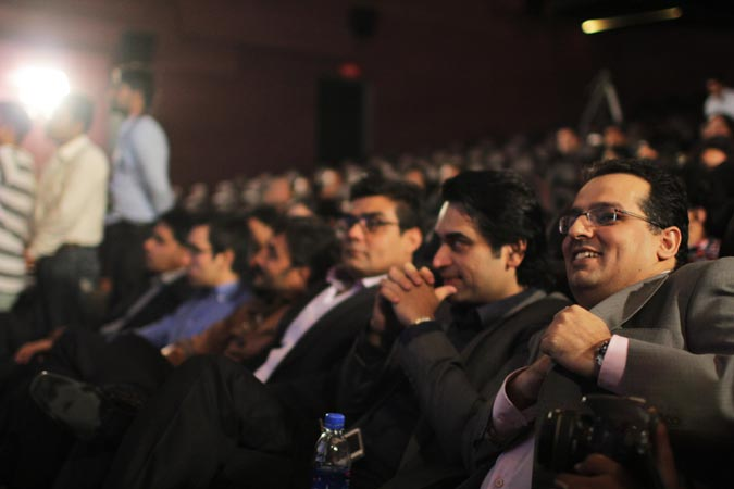 Pakistani television and film actor/producer Humayun Saeed is seen in the audience along with Mohammad Jerjees Seja and Salman Iqbal (Foundaer and CEO of ARY Network) .–Photo by Alisia Pek
