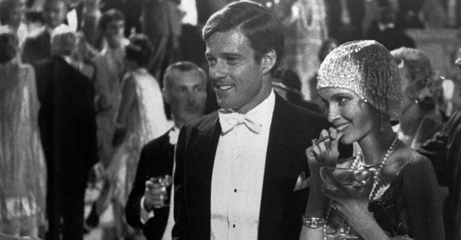 "This 1974 file photo originally released by Paramount Pictures shows Robert Redford as Jay Gatsby, and Mia Farrow as Daisy, in ""The Great Gatsby."" —Photo by AP"