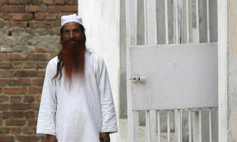 Sanaullah Haq is seen in his regular jail uniform after attending a routine practice inside Kotbhalwal central jail in Jammu in this May 20, 2011 file picture.— File Photo by Reuters