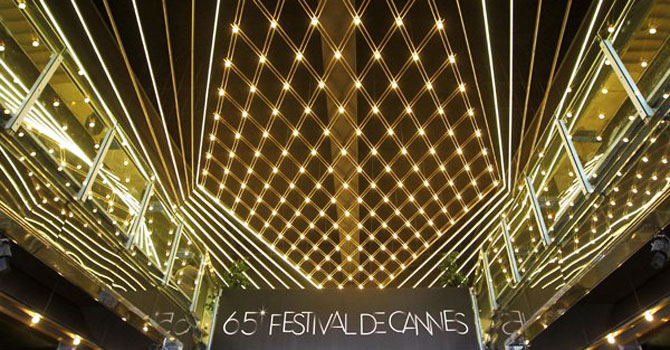 "View of one of the entrances of the ""Palais des Festival"" on the eve of the 65th Cannes film festival last year. —AFP (File) Photo"