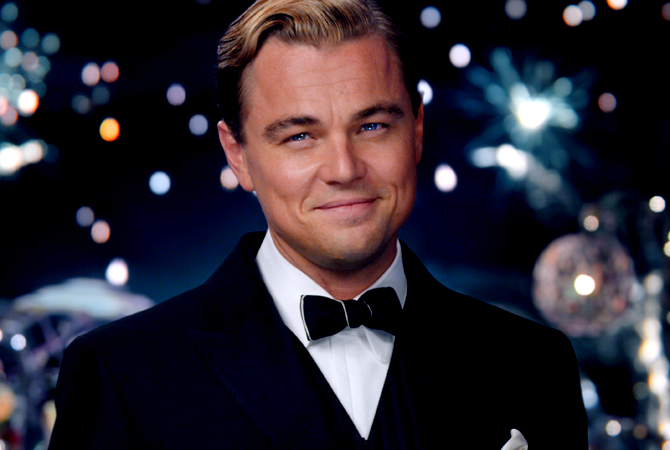 "Leonardo DiCaprio as Jay Gatsby in a scene from ""The Great Gatsby."" — AP Photo"