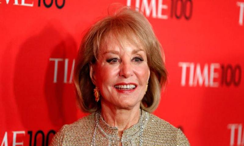 Journalist Barbara Walters arrives for the 2013 Time 100 gala celebrating the magazine's naming of the 100 most influential people in the world for the past year. —Reuters (File) Photo