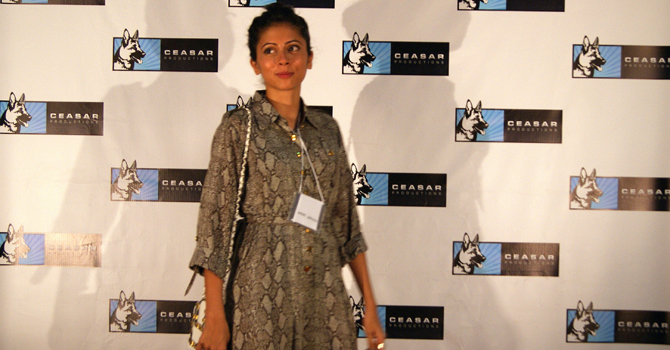 Producer Meher Jaffri on the red carpet. — Photo: Publicity.