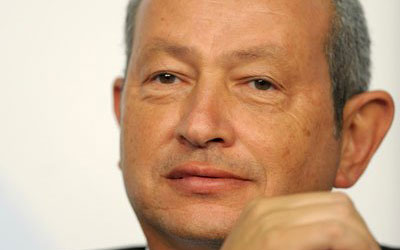 Egyptian telecoms tycoon Naguib Sawiris. —AFP (File) Photo